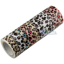 Leopard Spotted Roll Washi Paper Sticky Paper Masking Adhesive Tape DIYGift Fine