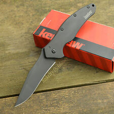 Kershaw Shallot 14C28N DLC Coated Plain Edge Assisted Open Knife 1840CKT