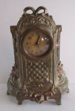 Antique French Gilt Small Shelf or Desk Clock