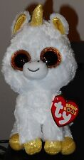 """Ty Beanie Boos - PEGASUS the 6"""" Unicorn ~ Claires Exclusive Tag Version ~ NEW"""