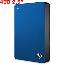 "4TB 2.5"" Seagate Backup Plus Portable External Hard Disk Drive HDD USB3.0 BLUE"