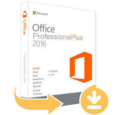 Microsoft Office 2016 Professional Plus 1 PC Deutsch 32/64 Bit - E-Mail