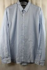 MENS THEORY LIGHT BLUE MICRO PLAID KEYPORT ZACK BUTTON FRONT SHIRT XL NWT $195