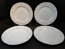 """Fine China of Japan English Garden 1221 Dinner Plate 10 1/4"""" FOUR MINT!"""