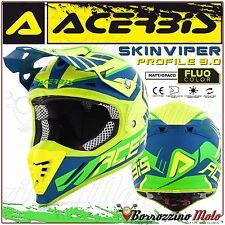 ACERBIS CASCO PROFILE 3.0 SKINVIPER MOTOCROSS OFFROAD GIALLO FLUO/BLU TAGLIA M