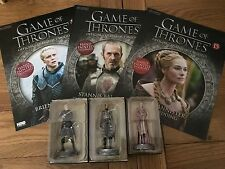 Eaglemoss Game of Thrones Official Collectors Figures x 3, Models 10,11 & 15
