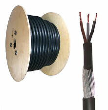 10mm 3 Core SWA Steel Wire Armoured XLPE Electrical Cable 100M  BASEC Approved.