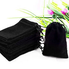 25pcs Wholesale Black Velvet Jewelry Gift Bags Pouches Jewelry Organizer Storage