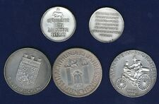 SWITZERLAND 1951-1961  SHOOTING MEDALS, MISC. SILVER MEDALS LOT OF (6)