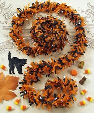 Halloween FESTOONING Orange Black Garland 25 Feet Great for Vintage Retro Decor