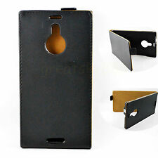 Black Flip Leather Meganetic Holster Guard Pouch Case Cover For Nokia Lumia 1520