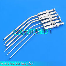 6 FRAZIER SUCTION TUBES SET 6,7,8,9,11,12 Fr Non Magnet Surgical Instrument