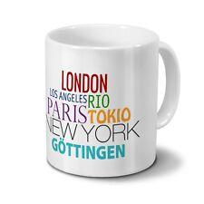 """Städtetasse Göttingen - Design """"Famous Cities in the World"""""""