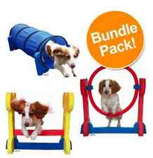 Agility Set Dog Puppies Saver Bundle Hurdle Hoop Tunnel Fun Sport Training Play