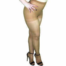 Leggs Sheer Energy 65608 Shiny Glossy Control Top Pantyhose - Queen Size Suntan