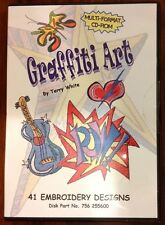 Graffiti Art by Terry White Embroidery CD ROM sewing machine Quilting peace 70's