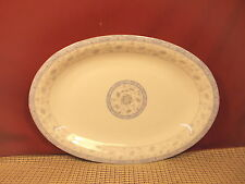 """Made In China Blue Floral Oval Buffet Plate/Platter 12 1/8"""" x 8 5/8"""""""