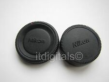 For Nikon Body & Rear Lens Cap SLR DSLR AF MF Digital