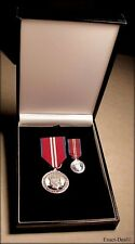 Canada Queen Elizabeth II Diamond Jubilee Full Size & Miniature Medals in Box