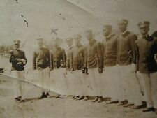 ANTIQUE AFRICAN AMERICAN BUFFALO SOLDIERS SWORD POST WW1 REGIMENT CAMP OLD PHOTO