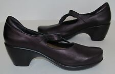 Naot Women's Mary Jane Pump Shoes Style Pleasure Metallic Purple Size 42/11-11.5