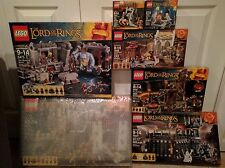 LEGO Lord of the Rings 7 Sets Helm's Deep Moria Wizard Battle Elrond Forge LOTR