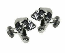 Jac Zagoory Designs Laughing Skulls Pewter Cuff Links - NEW Gift BOXED MENS GIFT