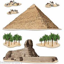 Ancient Egypt Egyptian Party Scene Setter Add-on Props - Pyramid & Sphinx