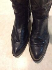 JUSTIN BOOTS - Leather Western Black Cowboy boots sz/ 5 1/2 B
