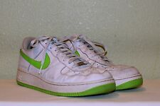 MENS WHITE GREEN NIKE AIR FORCE ONE AF1 '82 BASKETBALL SHOES US 11 EU 44 44.5 45