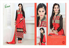 Pakistani Indian Bollywood New Unstitched Ladies Shalwar Kameez Designer Suits