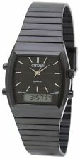 Men's Citizen Digital Analog Black Steel Watch JM0545-58E