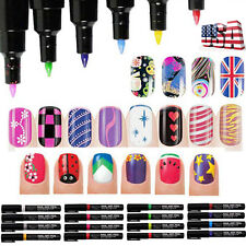 16 Colors Nail Art Pen Painting Design Drawing Pencil UV Gel Polish Manicure Set