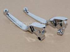 Chrome Blade Brake Clutch Levers Harley Road King Electra Glide Touring 08-13