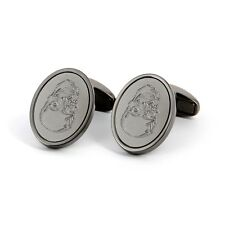 Paul Smith Cufflinks - Etched Skull/ Graphite Silver/Made in UK/ £130.00/BNWT