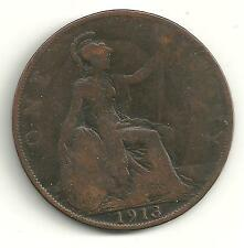Very Nice 1913 Large Penny-Great Britain
