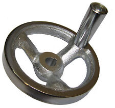 RDGTOOLS 100MM MACHINE HAND WHEEL HEAVY DUTY CAST IRON 12MM BOREAND KEYWAY