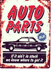 AUTO PARTS GARAGE METAL SIGN RETRO VINTAGE STYLE SMALL shed man cave tin room