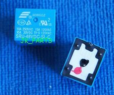 10pcs ORIGINAL 48V SRU-48VDC-SL-C SONGLE SPDT Power Relay 5Pins