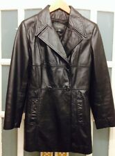 VGC RIVER ISLAND BLACK LEATHER JACKET SIZE M