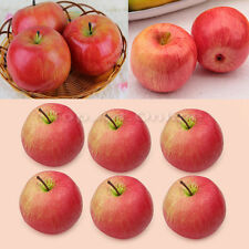 6 pcs Lifelike Artificial Red Apples Realistic Faux Fruit for Home Decor Staging