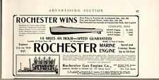 1907 Print Ad Rochester Marine Engines Bowler,Holmes,Heckler NY