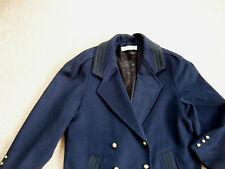DONNY BROOK COAT PEA COAT Size 10  WOOL Double Breasted Navy Blue winter jacket