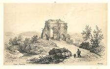 Veduta rovine romane Roma Lazio 1860