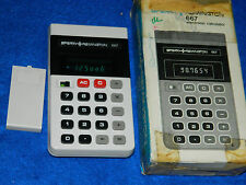 VINTAGE Sperry Remington 667 ancien CALCULATRICE Taschenrechner OLD CALCULATOR