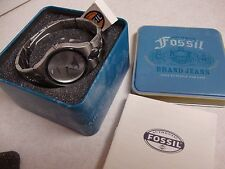 MEN'S FOSSIL WATCH ~ PR-5171 `stainless steel case back, 50met./165ft.water res.