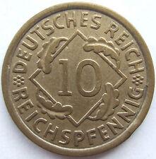 alto! 10 REICHSPFENNIG 1932 E in MOLTO BELLO / ECCELLENTE RARI