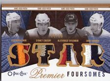 2009-10 OPC PREMIER FOURSOMES KOVALCHUK CROSBY OVECHKIN TAVARES QUAD PATCH /10