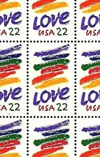 1985 - LOVE - #2143 Full Mint -MNH- Sheet of 50 Postage Stamps