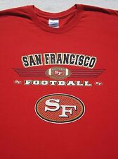 SAN FRANCISCO 49ERS football LARGE T-SHIRT forty niners